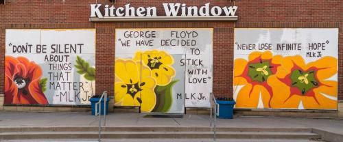 Mary Bacon at Kitchen Window
